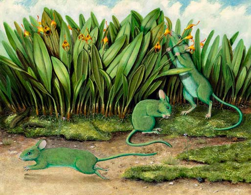 Isabella Kirkland, Phosphorescent Mice (Study for Nova Series), 2005 ikf0509
