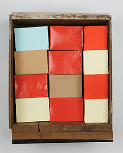 Nancy Shaver, One blue block, red brick, 2004 nsf0405