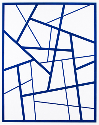 Cary Smith, Straight Lines #7 (dark blue), 2014
