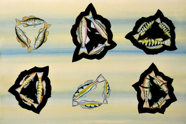 Ben Snead, Five Sea Bass, 2008 bsf0812