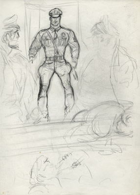 Tom of Finland, Untitled (preliminary drawing), 1965 toff6501