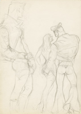 Tom of Finland, Untitled (preliminary drawing), 1970 toff7001
