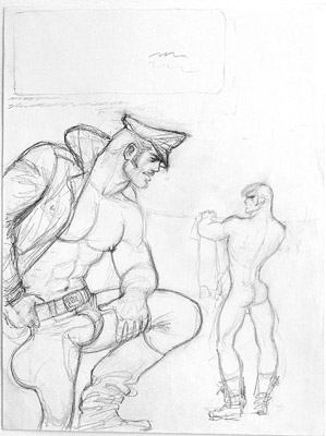 Tom of Finland, Untitled (preliminary drawing), 1972 toff7201