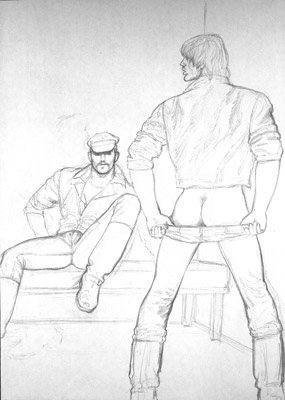 Tom of Finland, Untitled (preliminary drawing), 1978 toff7802