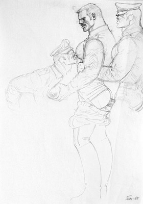 Tom of Finland, Untitled (preliminary drawing), 1988 toff8802