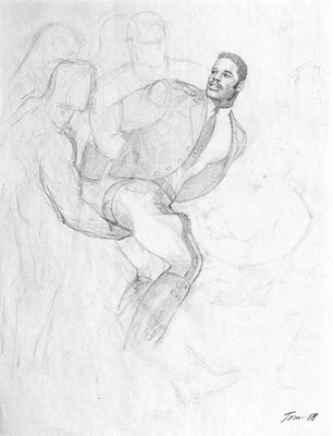 Tom of Finland, Untitled (preliminary drawing), 1988 toff8803