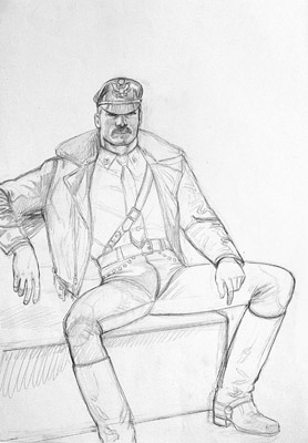 Tom of Finland, Untitled (preliminary drawing), undated toffxx11
