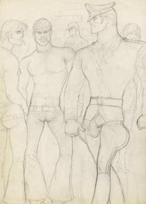 Tom of Finland, Untitled (preliminary drawing), undated toffxx15